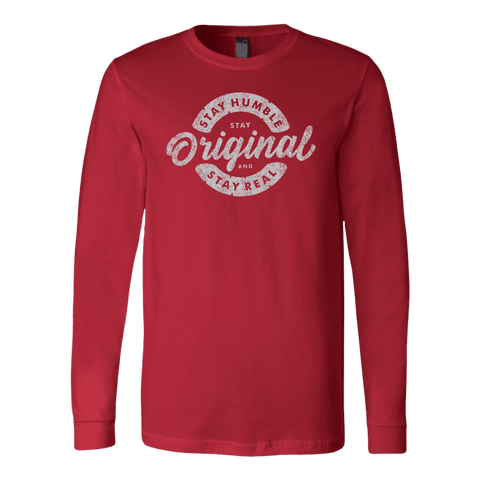 Image of Stay Real, Stay Original | Long Sleeves and Hoodies T-shirt Canvas Long Sleeve Shirt Red S