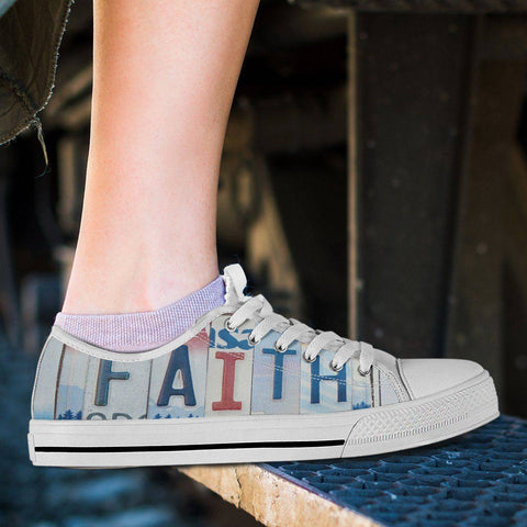 Walk By Faith | Premium Low Top Shoes Shoes