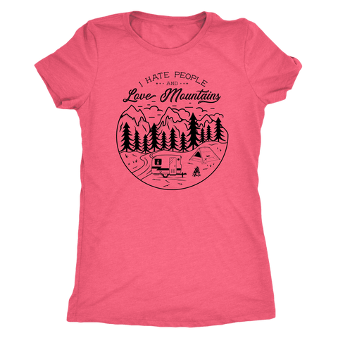 Image of Love The Mountains Womens T-shirt Next Level Womens Triblend Vintage Light Pink S