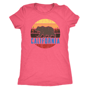 Big Bear California Shirt V.1, Womens Shirts T-shirt Next Level Womens Triblend Vintage Light Pink S