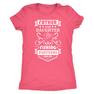 Father and Daughter Fishing Partners T-shirt Next Level Womens Triblend Vintage Light Pink S