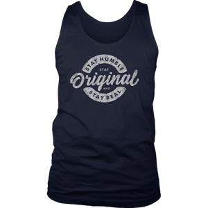 Stay Real, Stay Original Mens Shirts T-shirt District Mens Tank Navy S