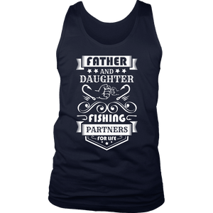 Father and Daughter Fishing Partners T-shirt District Mens Tank Navy S