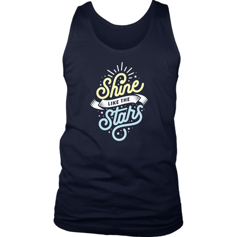 Shine Like The Stars T-shirt District Mens Tank Navy S
