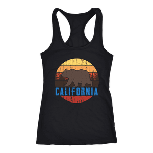 Big Bear California Shirt V.1, Womens Shirts T-shirt Next Level Racerback Tank Black XS