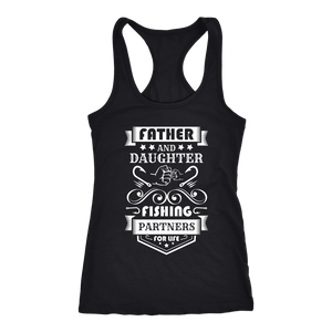 Father and Daughter Fishing Partners T-shirt Next Level Racerback Tank Black XS