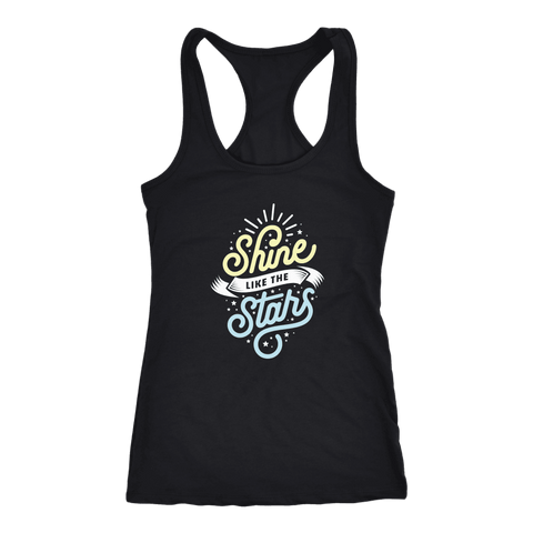Shine Like The Stars T-shirt Next Level Racerback Tank Black XS