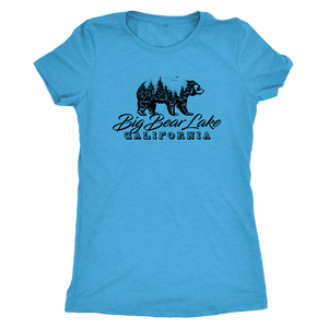 Big Bear Lake California V.2, Womens, Black T-shirt Next Level Womens Triblend Vintage Turquoise S