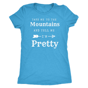 To The Mountains Womens Shirts T-shirt Next Level Womens Triblend Vintage Turquoise S