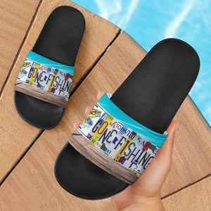 Gone Fishing Slide Sandals | Perfect For Fishing Or...