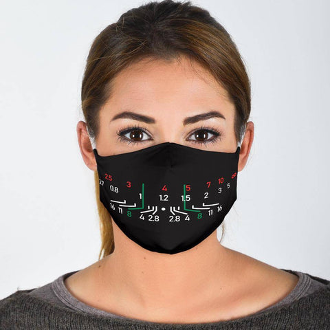 Image of Focal Length Face Mask Black Face Mask - White Adult Mask + 2 FREE Filters (Age 13+)