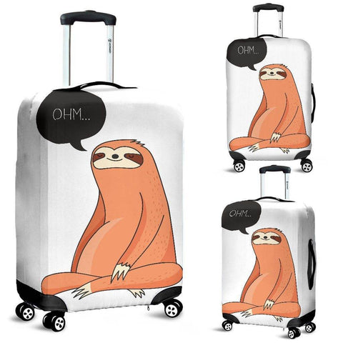 Yoga Sloth Luggage Cover