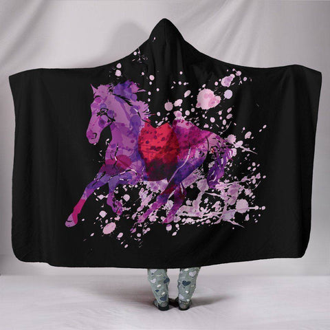 Image of Premium Wild Horse Hooded Blanket