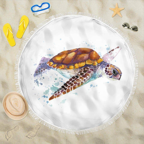 Image of Beach Blanket Turtle V.2 Beach Blanket