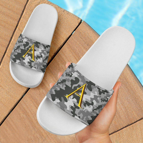 Image of Snow Camo Slide Sandals | Initials AA Slides