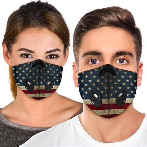 Image of Premium American Flag Face Mask Face Mask
