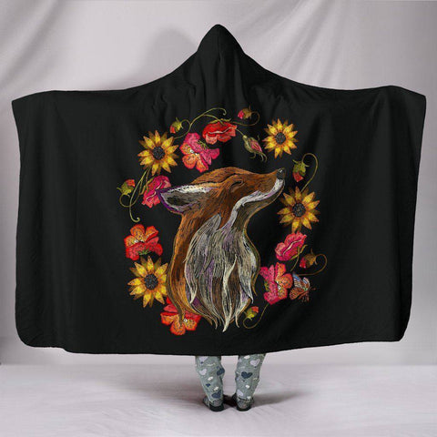 Image of Finny Fox Hoodie Blanket Hooded Blanket