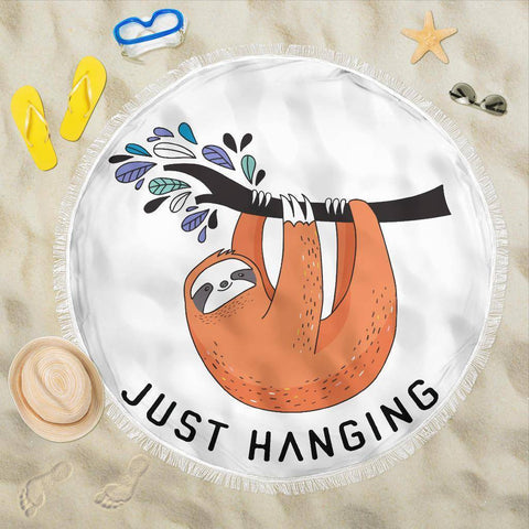 Image of Fun 'Just Hanging' Beach Blanket Beach Blanket