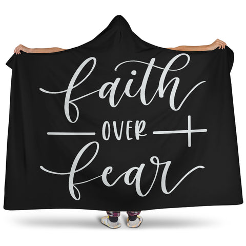 Faith Over Fear Hooded Blanket