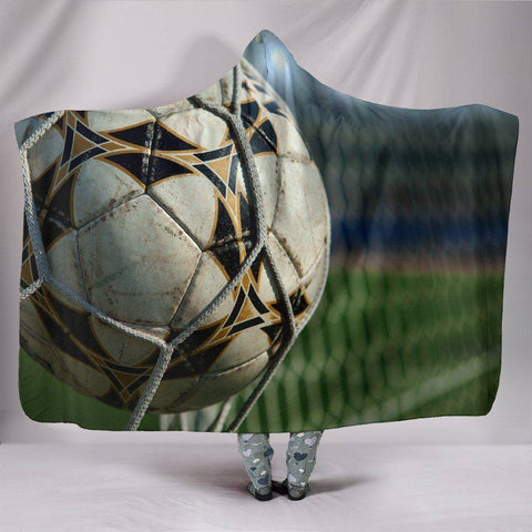 Image of Premium Hoodie Blanket with Football