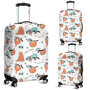 Cool Sloths Luggage Cover White
