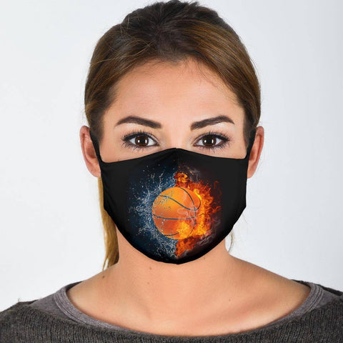 Basketball Lovers Facemask Face Mask Face Mask - Black Adult Mask + 2 FREE Filters (Age 13+)