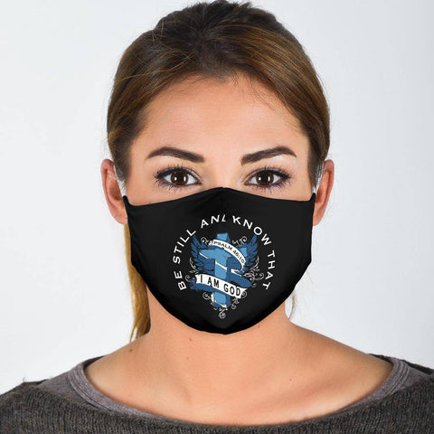 Be Still and Know That I Am God Face Mask Face Mask - White Adult Mask + 2 FREE Filters (Age 13+)