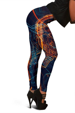 Image of Circuit Board Leggings Leggings