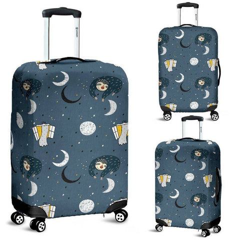 Image of Sleeping Space Sloth Luggage Covers luggage covers