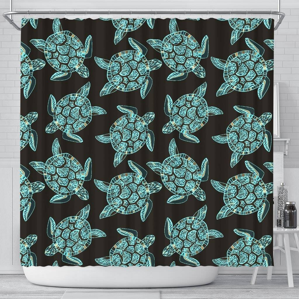 Turtle Shower Curtain, V.4