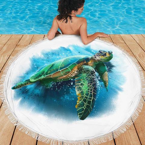 Image of Turtle Beach Blanket v.3 Beach Blanket