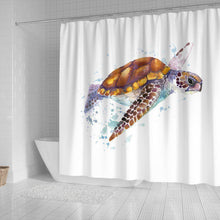 Turtle Shower Curtain, V.3
