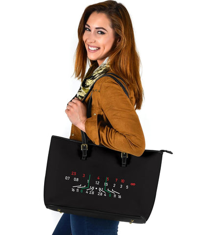 Focal Length Tote, Large Vegan Leather Bags