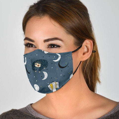 Sleeping Space Sloth Face Mask Face Mask