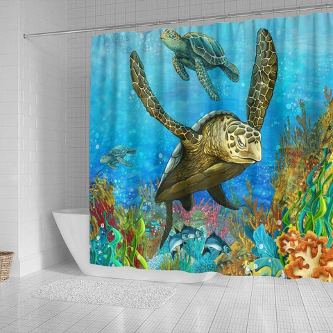 Image of Turtle Shower Curtain, V.5