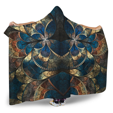 Image of Fractal Hooded Blanket V.1