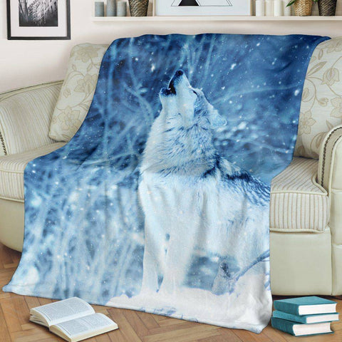 Winter Wolf Blanket