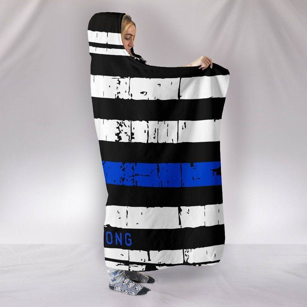 Premium Thin Blue Line Hooded Blanket, California