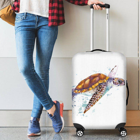 Cute Turtle Luggage Cover V2
