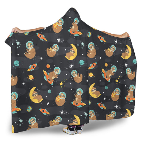 Sleeping Space Sloth Hooded Blanket Small Pattern