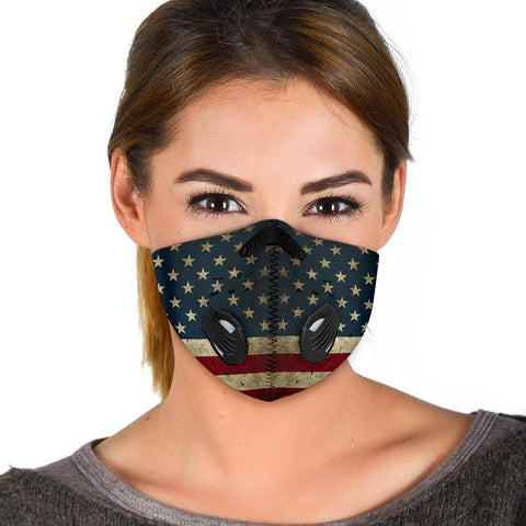 Premium American Flag Face Mask Face Mask