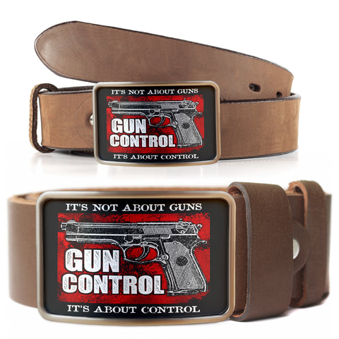 Gun Control Belt Buckle
