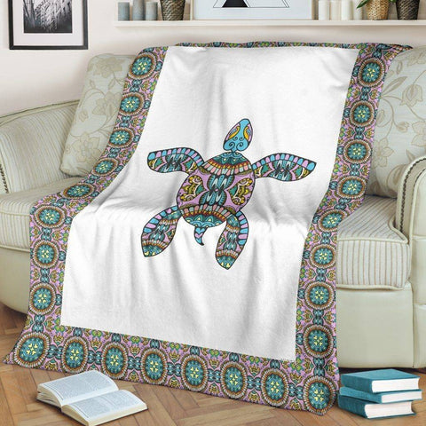 Image of Premium Tribal Turtle Blanket V.1