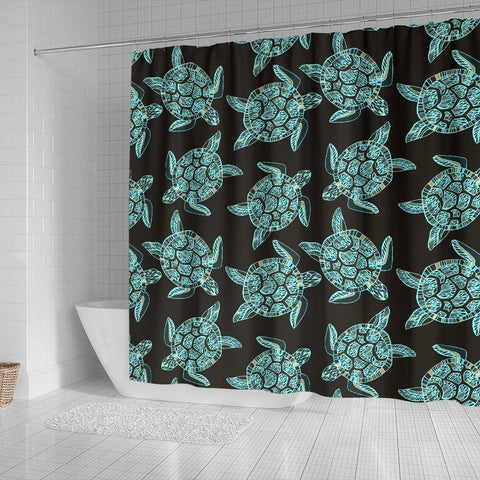 Image of Turtle Shower Curtain, V.4 shower curtain
