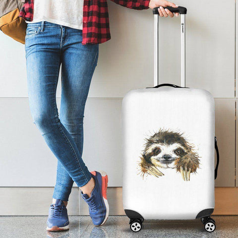 Image of Cute Sloth Luggage Covers