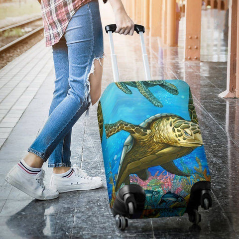 Cool Turtle Luggage Cover V4