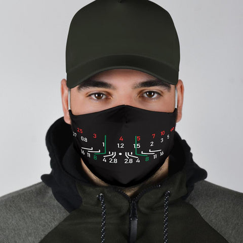 Image of Focal Length Face Mask Black