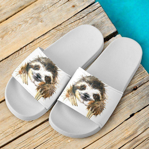 Super Cute Watercolor Sloth Slide Sandals Slides