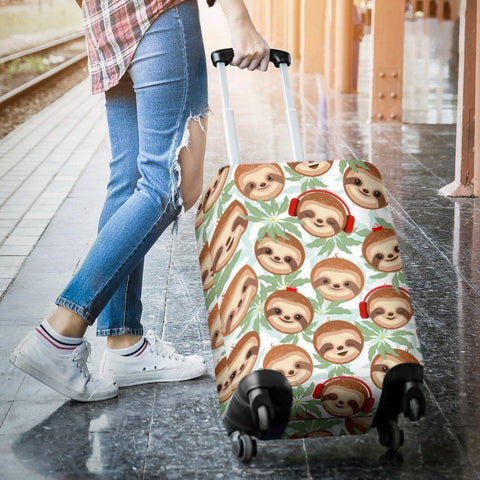 Happy Sloth Luggage Cover luggage covers