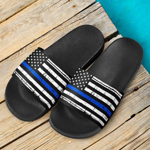 Thin Blue Line Slide Sandals Slides